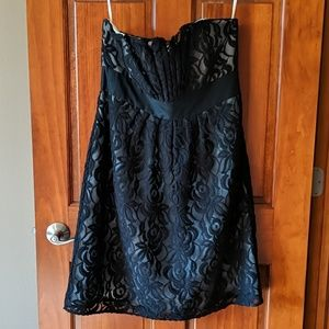 White House Black Market strapless, lace dress!